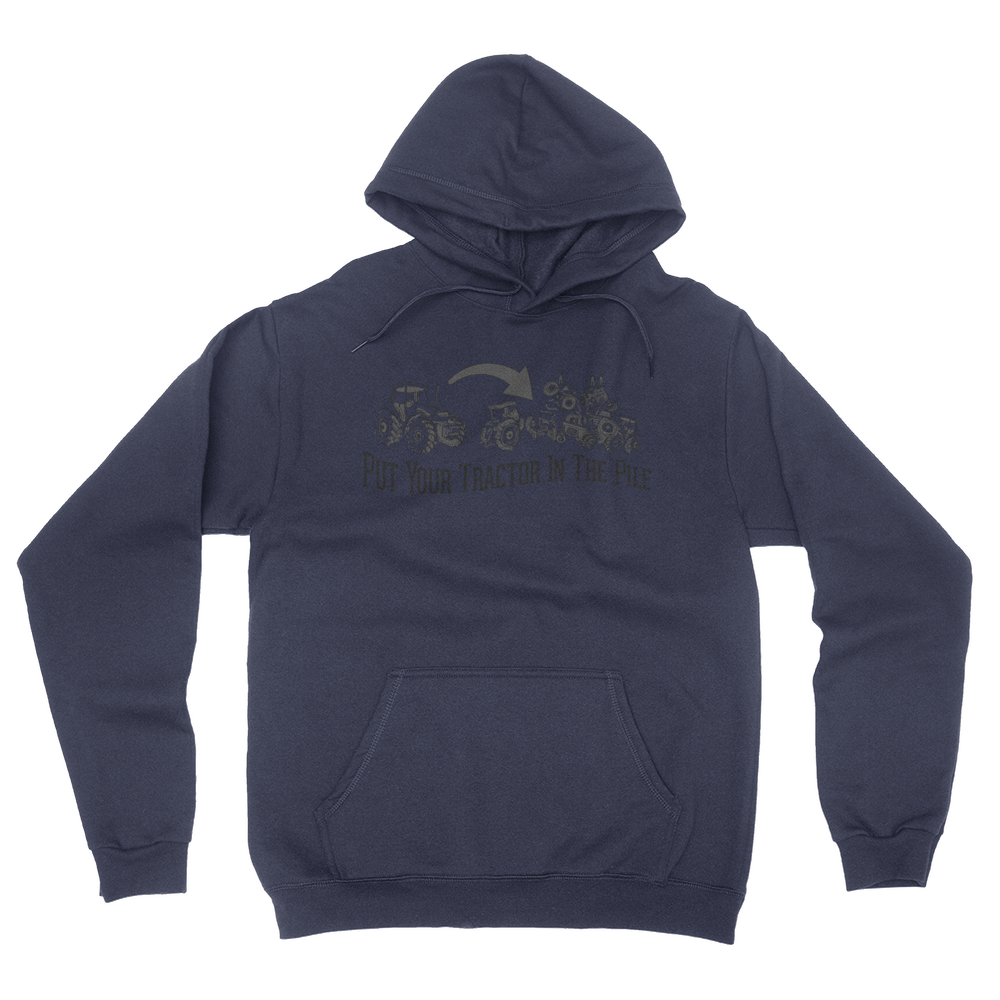 Tractor Pile - Unisex Pullover Hoodie Navy