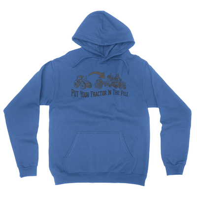 Tractor Pile - Unisex Pullover Hoodie Royal Blue
