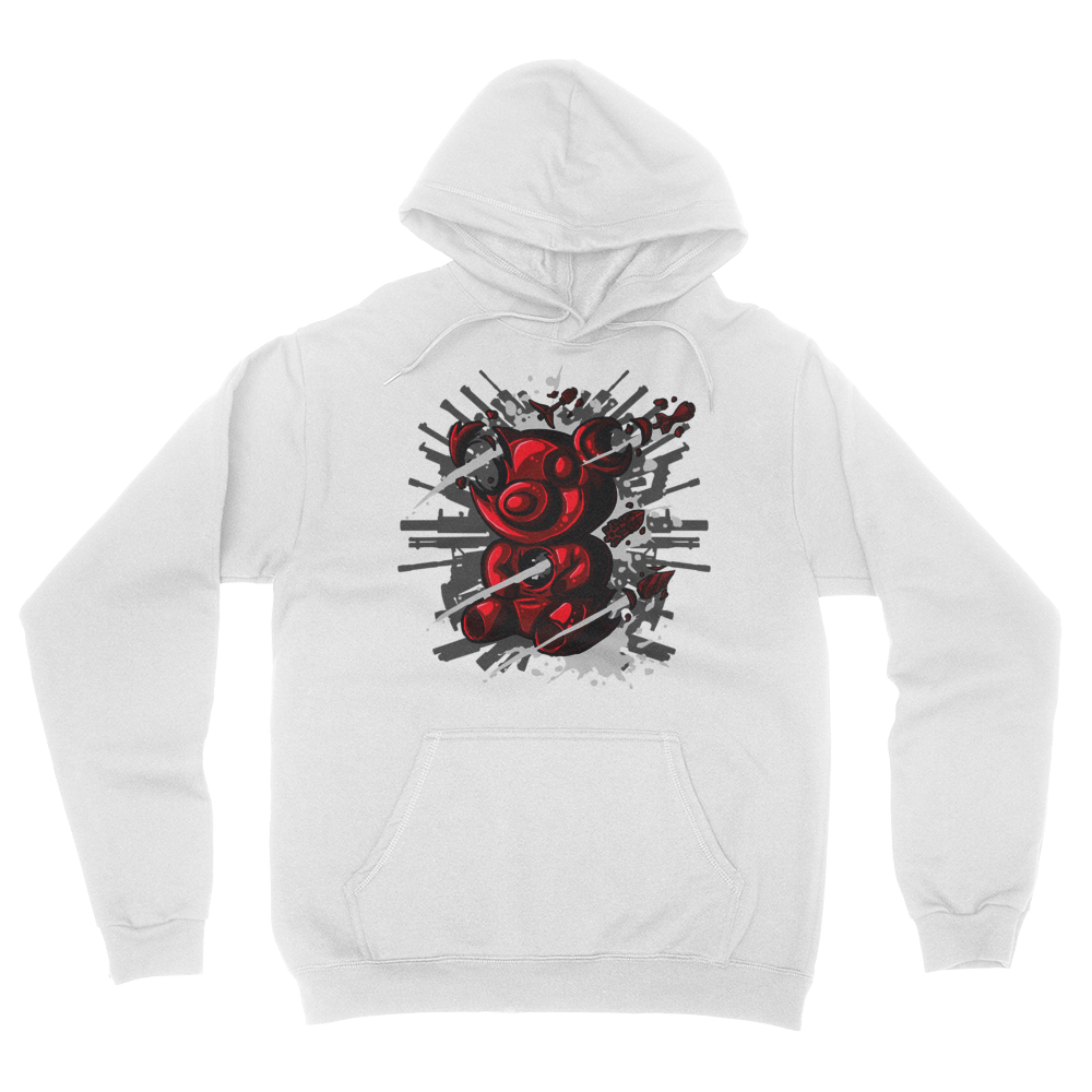 Tactical Gummy Bear - Unisex Pullover Hoodie White