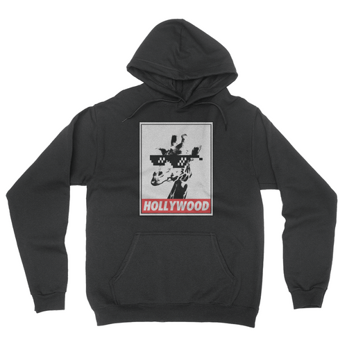 Hollywood Giraffe Hoodie Black