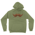 Stache - Unisex Pullover Hoodie Military Green