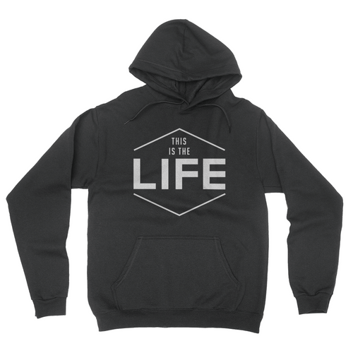 This Is The Life - Unisex Pullover Hoodie Black