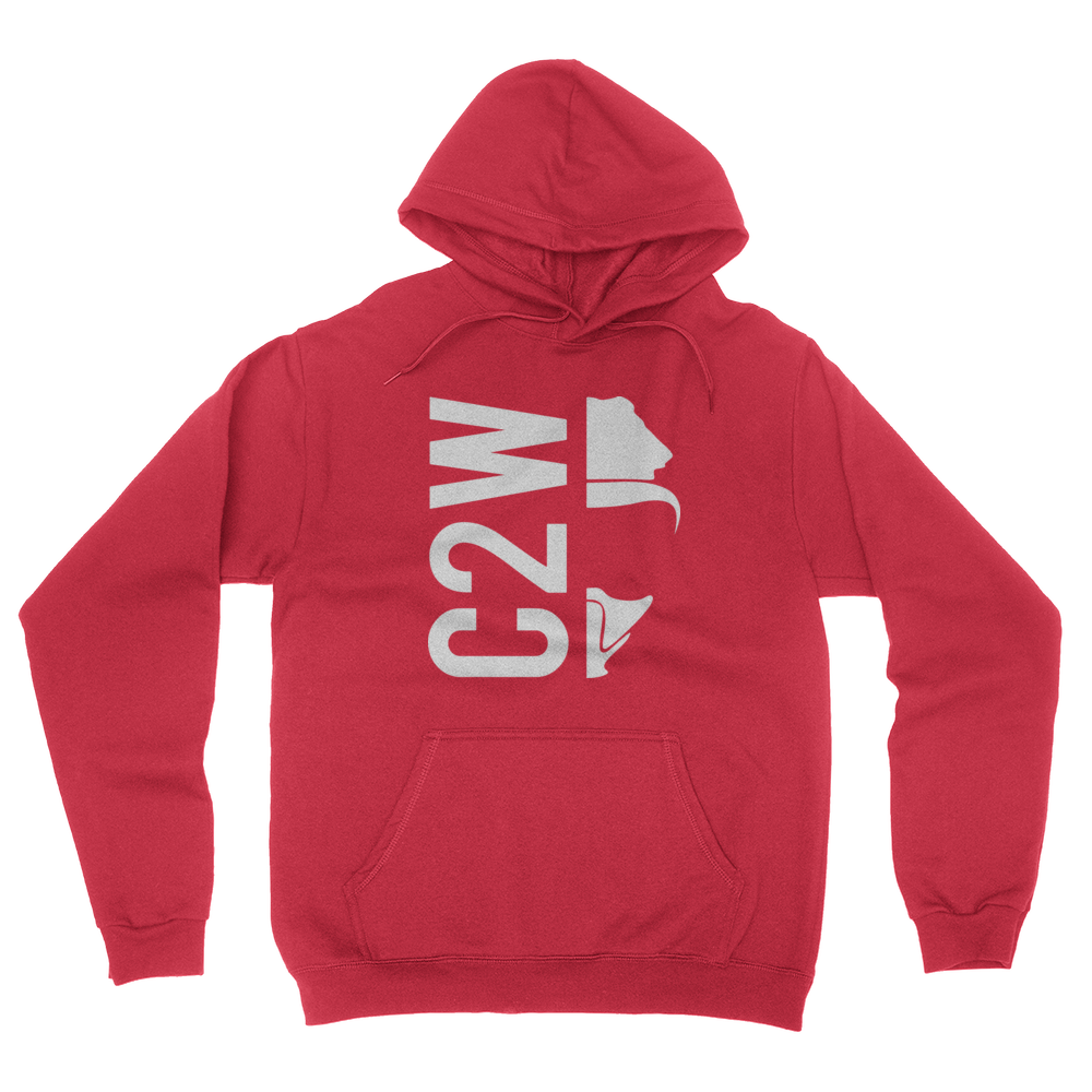 C2W - Unisex Pullover Hoodie Red