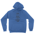 Keep Calm - Unisex Pullover Hoodie Royal Blue