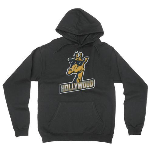 London Hollywood Giraffe - Unisex Pullover Hoodie Black