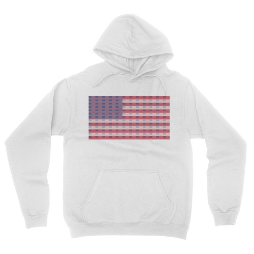 Super Flag - Unisex Pullover Hoodie White