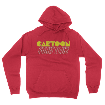 Cartoon Fight Club - Unisex Pullover Hoodie Red