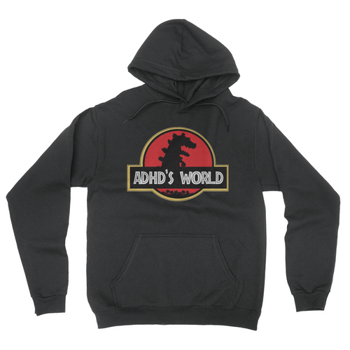 ADHD's World - Unisex Pullover Hoodie Black