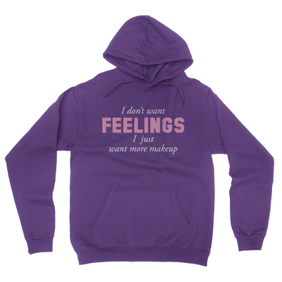 I Don't Want Feelings - Unisex Pullover Hoodie Purple