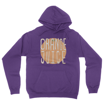Orange Juice - Unisex Pullover Hoodie Purple