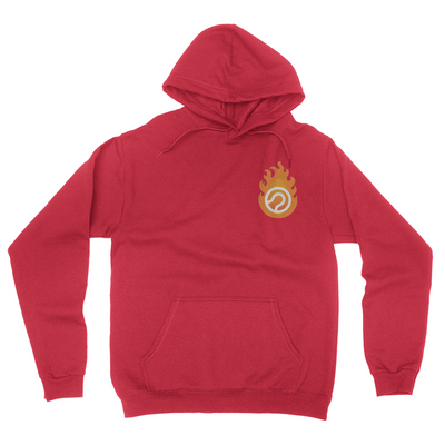 Pocket Logo - Unisex Pullover Hoodie Red
