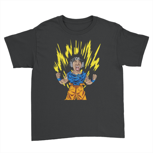 LSK Charged Up - Kids Youth T-Shirt Black