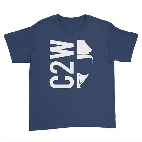 C2W - Kids Youth T-Shirt Navy