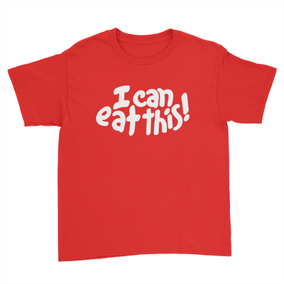 I Can Eat This! - Kids Youth T-Shirt Red