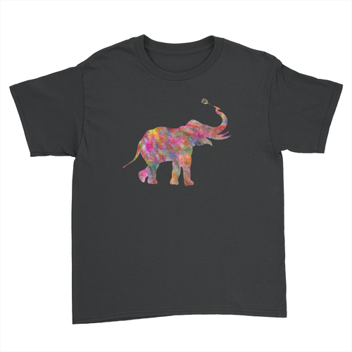 Elephant - Kids Youth T-Shirt Black
