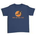 Bat In The Sun Logo - Kids Youth T-Shirt Navy