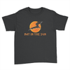 Bat In The Sun Logo - Kids Youth T-Shirt Black