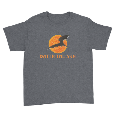 Bat In The Sun Logo - Kids Youth T-Shirt Dark Heather