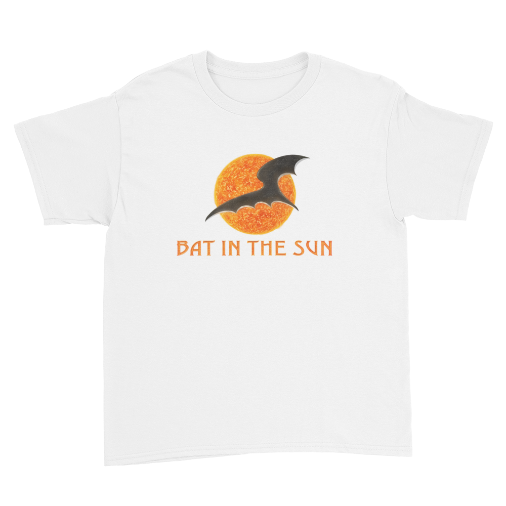 Bat In The Sun Logo - Kids Youth T-Shirt White