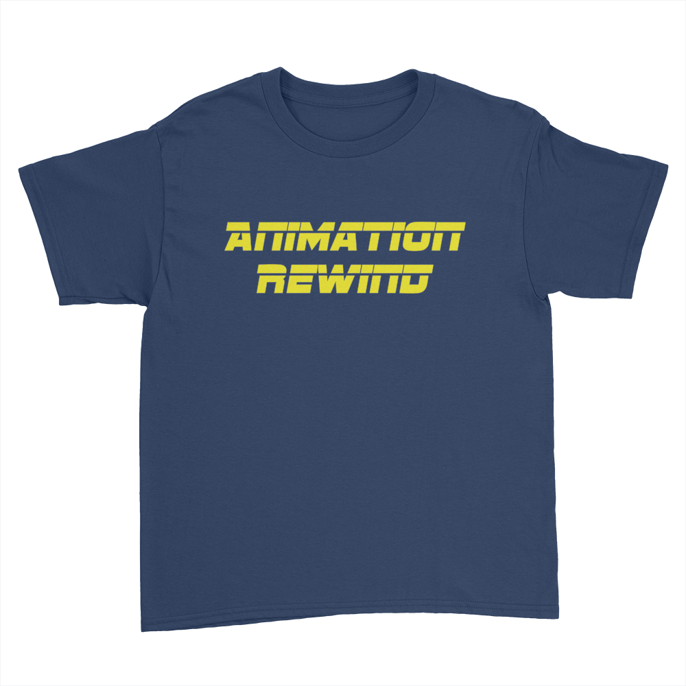 Animation Rewind - Kids Youth T-Shirt Navy