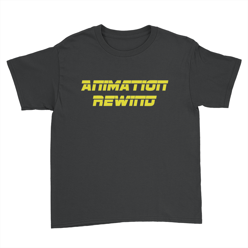 Animation Rewind - Kids Youth T-Shirt Black