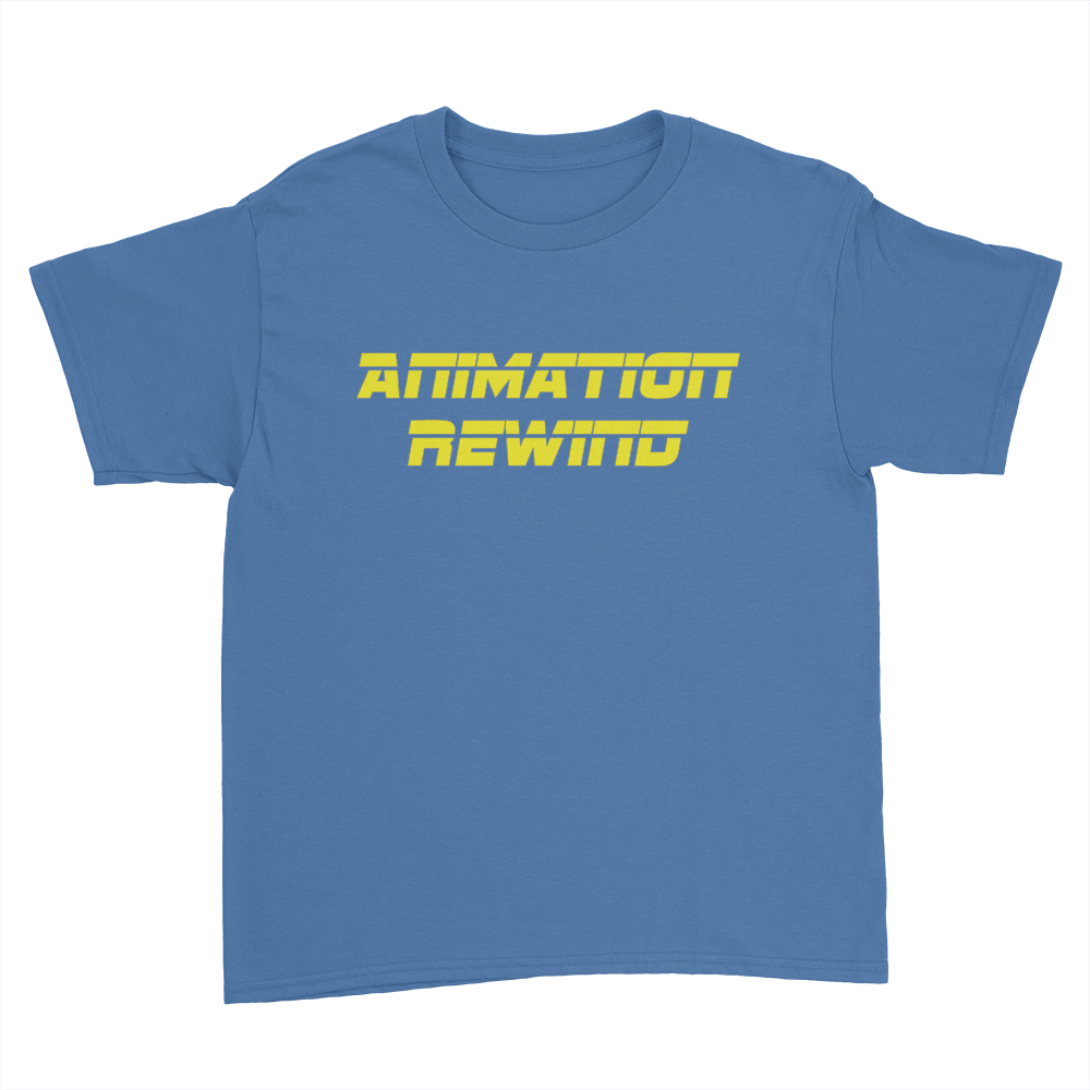 Animation Rewind - Kids Youth T-Shirt Royal Blue