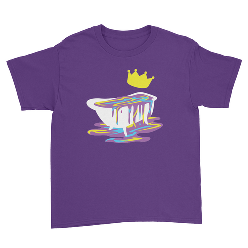 Bathtub - Kids Youth T-Shirt Purple