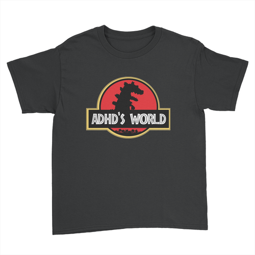 ADHD's World - Kids Youth T-Shirt Black
