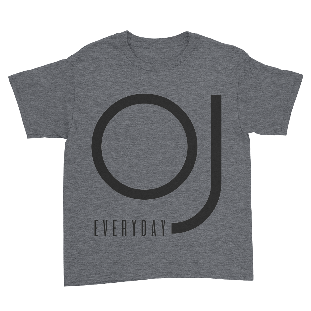 OJ Everyday - Kids Youth T-Shirt Dark Heather