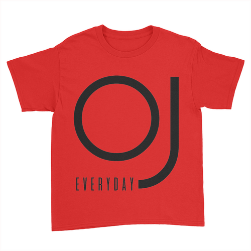OJ Everyday - Kids Youth T-Shirt Red