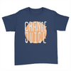 Orange Juice - Kids Youth T-Shirt Navy
