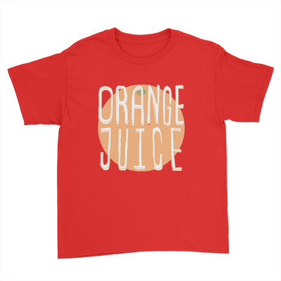 Orange Juice - Kids Youth T-Shirt Red