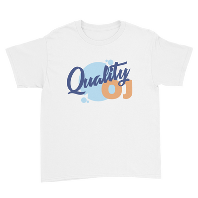 Quality OJ - Kids Youth T-Shirt White