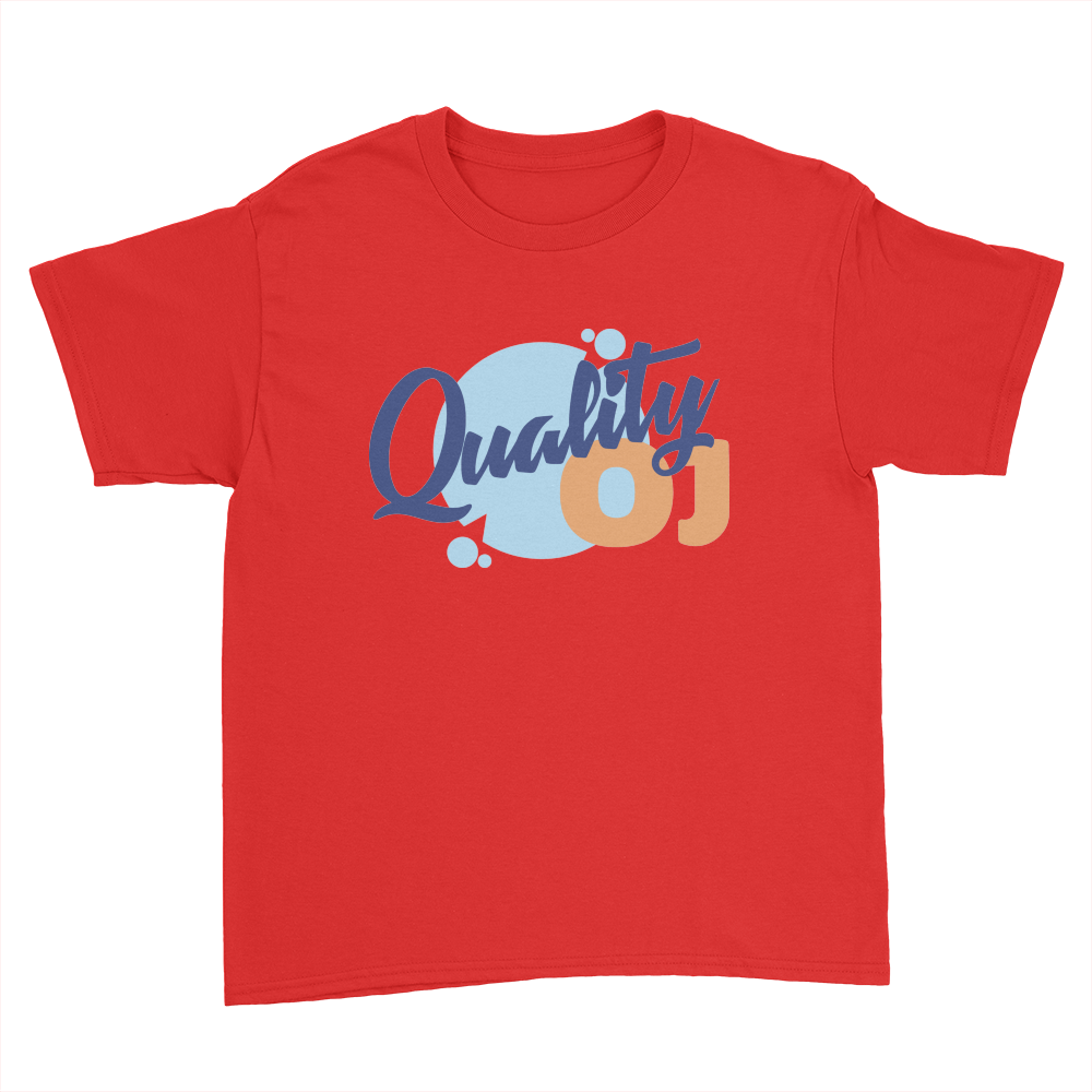 Quality OJ - Kids Youth T-Shirt Red
