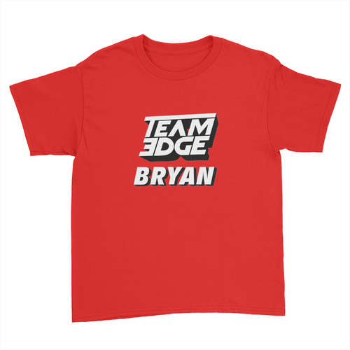Team Bryan - Kids Youth T-Shirt Red
