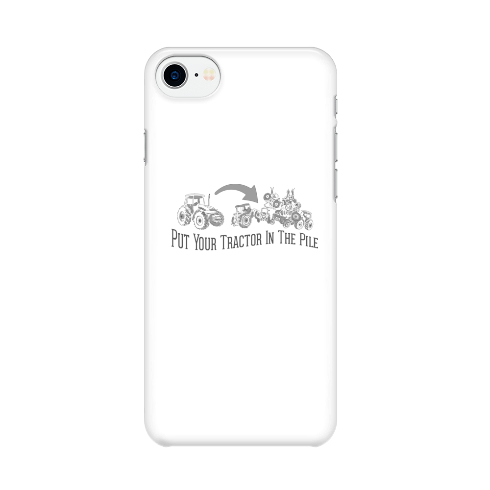 Tractor Pile -  iPhone Case Gloss