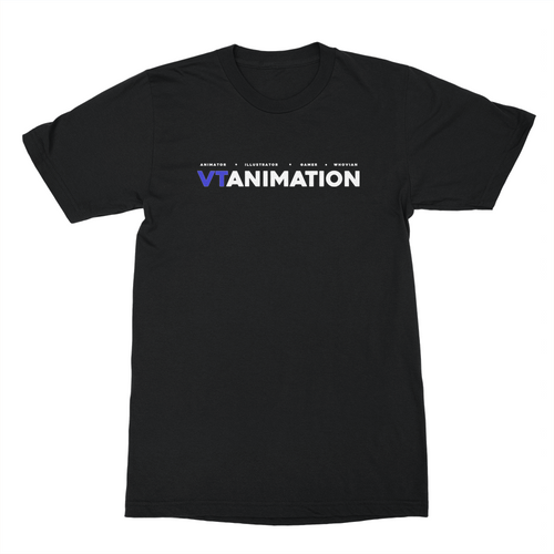 VTAnimation Logo Shirt (White Ink)