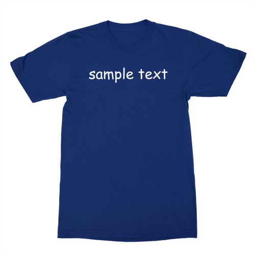Sample Text Shirt