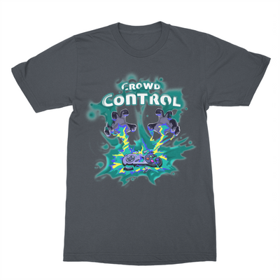 Warp World Crowd Control Teal Tee