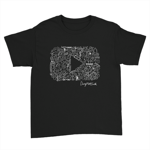 KIDS Play Button Black Shirt
