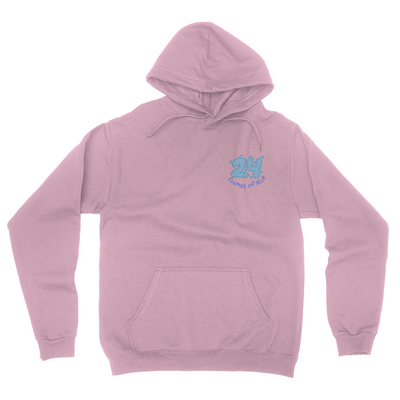 Cotton Candy Pocket Print Hoodie