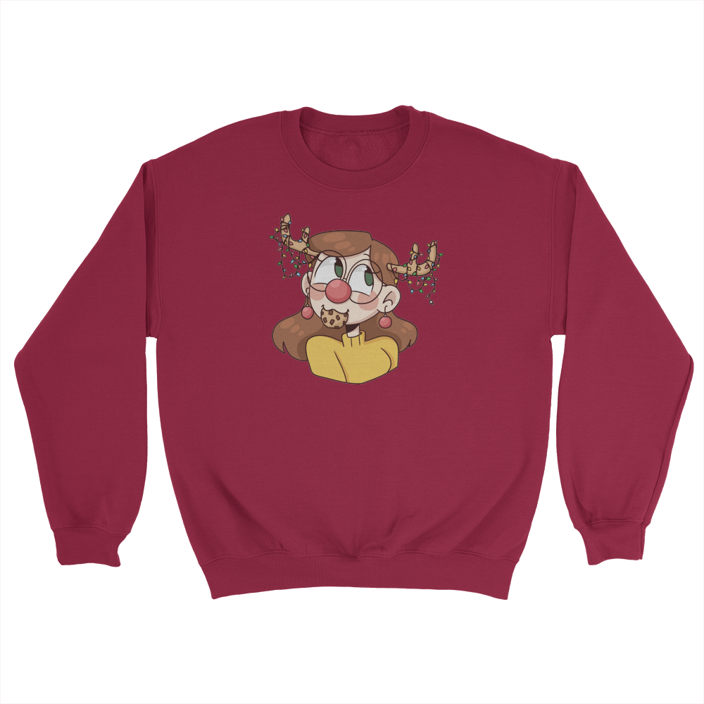Kelsey Animated Holiday Antlers Sweater