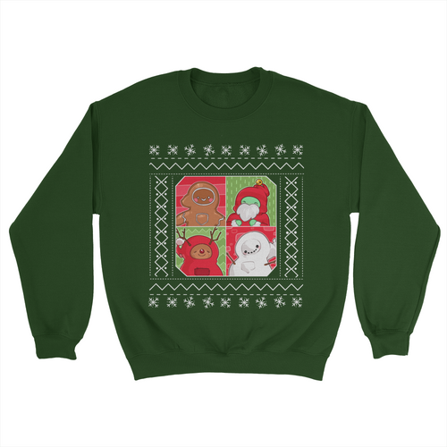 Gingerpale 4-Panel Holiday Sweater