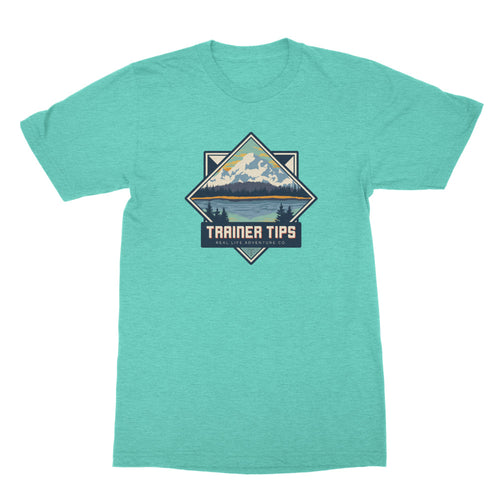 Retro Park Trainer Tips Logo - Unisex T-Shirt Heather Sea Green