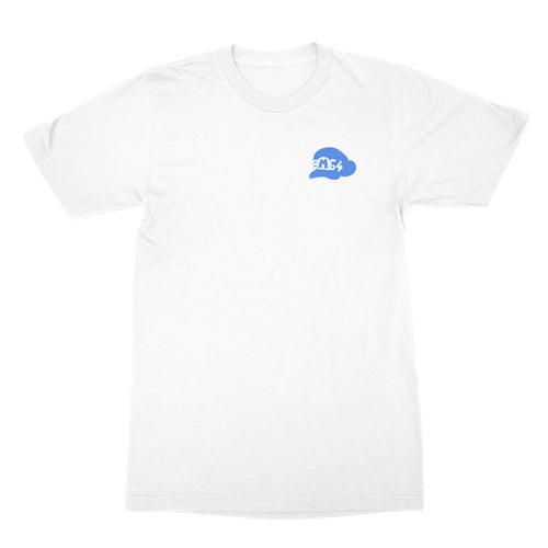 SMG4 Logo Embroidered T-Shirt White