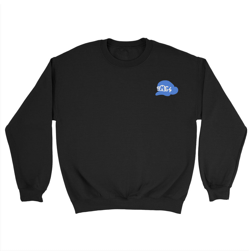 SMG4 Logo Embroidered Sweatshirt Black