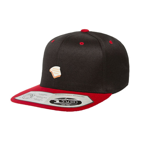 Toast Army Snapback Hat Black/Red