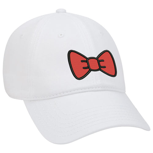 Red Bow Embroidered Dad Hat