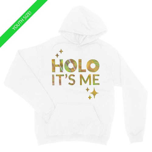 Holo Its Me - Gold Holo - Kids Youth Hoodie White