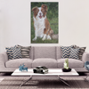 Image of Brown Border Collie - Canvas (4 Sizes) - Nana The Noodle